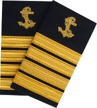 pagony epolety kapitana Marynarki Handlowej